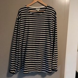 Vintage J Crew Long-Sleeve Striped Tee